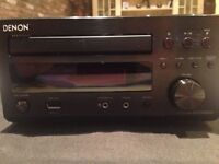Denon D-M38DAB Audio Shelf System & Monitor Audio Bronze BX1 speakers