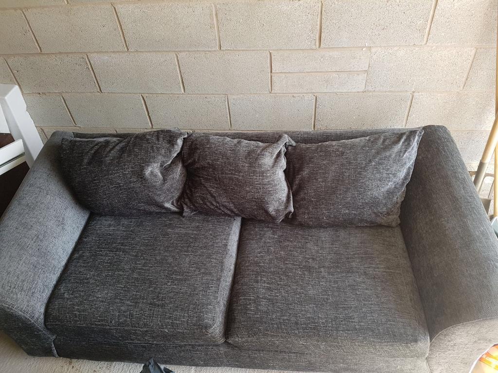 2 x Charcoal Sofas (1x 3 seater 1x 2 seater) Brilliant condition Argos
