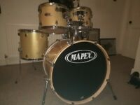 Mapex V series 5 piece drum kit including pedal and stool