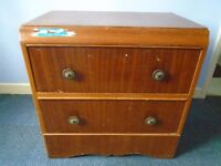 2 X DRAWER CHEST OF DRAWERS
