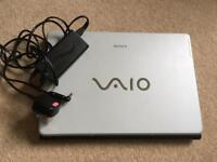 Sony Vaio laptop & charger