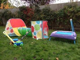 Selection of children's garden toys - good condition