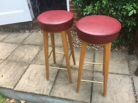 BAR STOOLS x 2 MAN CAVE ELMSWELL NR BURY ST EDS SUFFOLK WILL DELIVER LOCAL