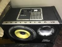 10 inch vibe cbr subwoofer with built in amp - 1300 watts very loud