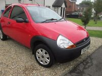 03 ford ka full mot 66000mls excep cond drives perfect no faults low tax and ins easy run easy parkd