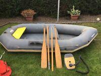 Avon redcrest dinghy with 2.5 mercury 2 stroke engine