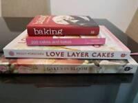 Selection of baking/sugar craft books