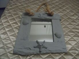Mirror with Seahorse, Starfish and Shells