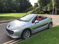 2007 Peugeot 207cc 1.6 GT ONLY 3 FORMER KEEPERS LEATHER PARKING SENSORS BARGAIN!!
