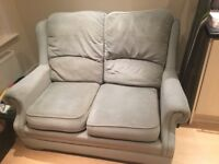 2 seater small green sofa - free for collection