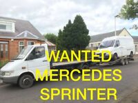 MERCEDES SPRINTER 208D - 308D -312D - VANS WANTED ANY CONDITION