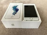 IPHONE 6S SILVER 32gb ON VODAFONE & LEBARA, BOXED IN MINT CONDITION MAY SWAP