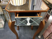 Brown mirror end table
