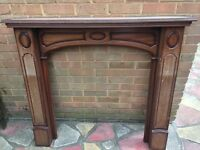 Dark wood fireplace surround/mantelpiece - Reasonable offers considered