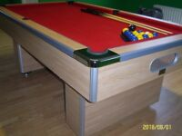 slate bed pool table 7' x 4' condition as new