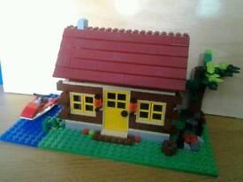 Lego log cabin