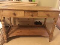 Old pine desk