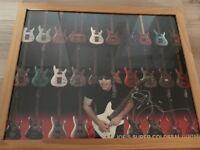 Signed and Framed Joe Satriani Original Poster