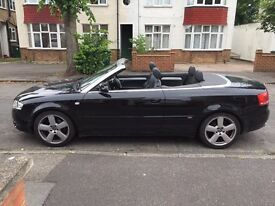2006 Audi A4 S Line 1.8 Turbo Petrol Cabriolet in Black.