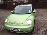 VW Beetle Auto 2003, 1 year MOT, low mileage & good condition for age