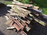 Wood for burning outside FREE collection only