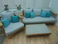 3 seater and chair conservatory set