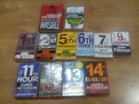 James patterson books x12 free to collect