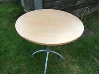 Round table wood without chairs good condition £8