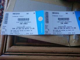 2 tickets Tom Jones, Powderham Castle, 15 July
