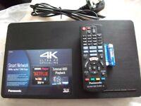 A PANASONIC HD 3D 4K UPSCALING BLU-RAY PLAYER MODEL. DMP-BDT170