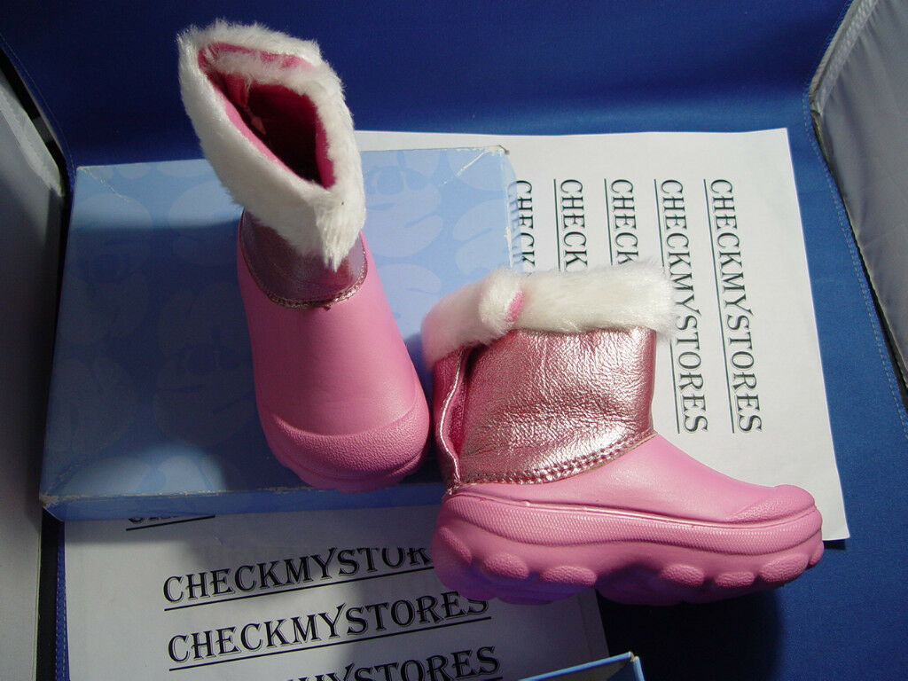 "NWT NATURAL STEPS ""show glitz "" PINK INFANT BOOTS NEW"