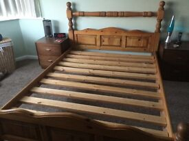 Solid Pine Knicker Rail King size Bed