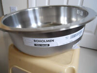 IKEA Stainless Steel Round Sink and Mixer Tap