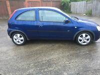 2004 blue 1.2 Vauxhall Corsa long mot
