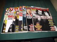 UNCUT MUSIC MAGAZINES 9 ISSUES 2008