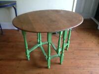 Solid oak drop leaf table vintage shabby