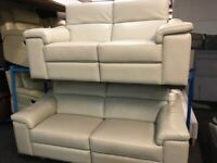NEW / EX DISPLAY LEATHER LAZYBOY MAURIZIO ELECTRIC RECLINER 3 + 2 SEATER SOFAS, 70% Off RRP