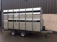USED IFOR WILLIAMS DP120 LIVESTOCK TRAILER 2010