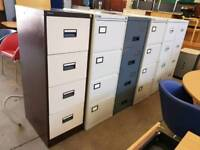 Metal four drawer filing units