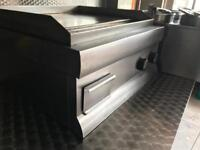 Electric flat grill commercial griddle catering kitchen equipment restaurant takeaway cafe shop