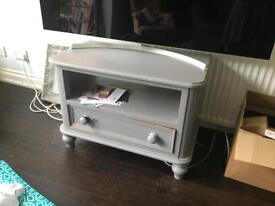 Wooden grey tv cabinet