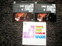Nice Vintage Collection Of 3 Dave Brubeck Long Playing Jazz Vinyl Records.