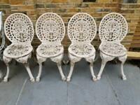Garden chairs (x4)