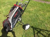 Nike golf bag, trolley and clubs