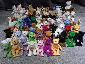 Collection of 78 TY Beanie Babies