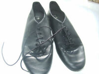 Black leather jazz dance shoes size 6