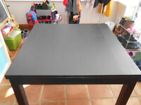 Dining Table from Ikea Bjursta - extendable Brown-Black