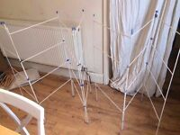 2 X CLOTHES AIRER AIR DRY HORSE... A 4 TIER AND A 3 TIER