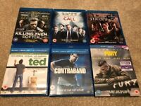 6x Blu-Ray Films (Killing Them Softly, Margin Call, Strike Back, Ted, Contraband and Fury)