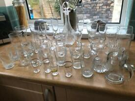 Large amount of glassware